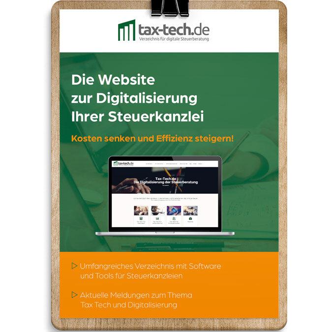 Tax-tech.de Din A4 Flyer