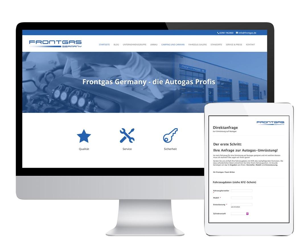 WWWald Website KFZ Werkstatt Autogas