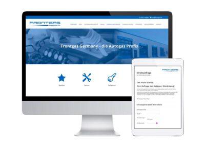 Website mit Anfragesystem
